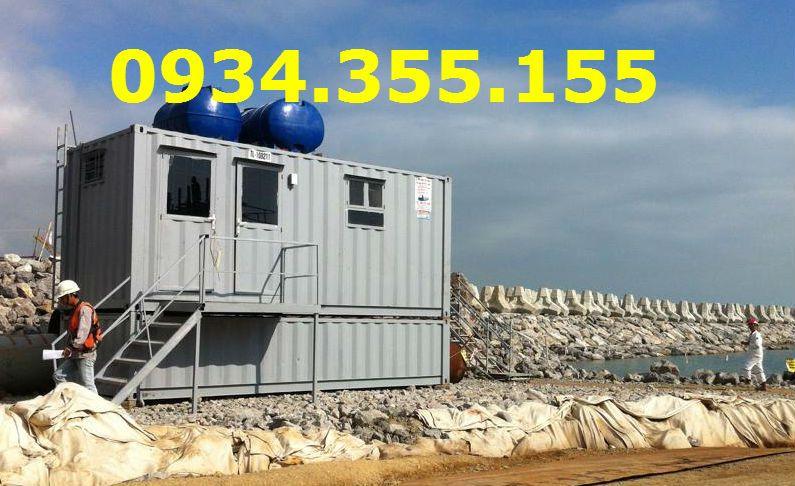 Container vệ sinh 20feet với bồn chứa phía dưới