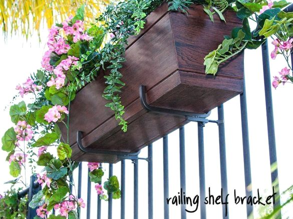 33 Unique Ideas Of A Diy Pallet Planter Railing Flower Boxes