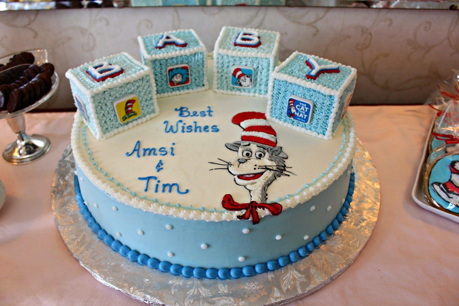 Drussbabyshowercakeg 16001066 Its A Boy Dr Seuss