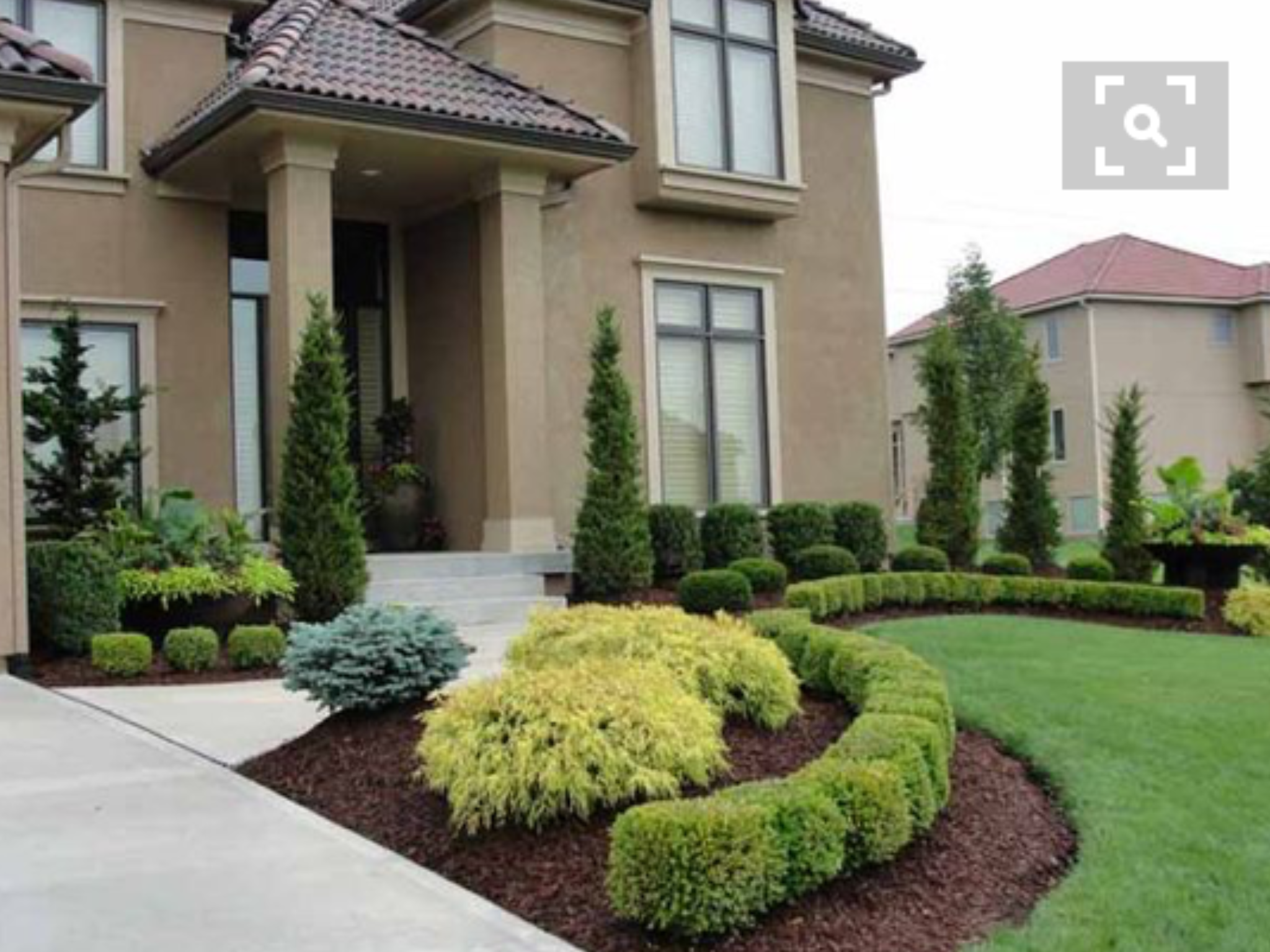 Pin by Karen Boster on Landscape | Residential landscaping ... on Luxury Front Yard Landscape id=42503