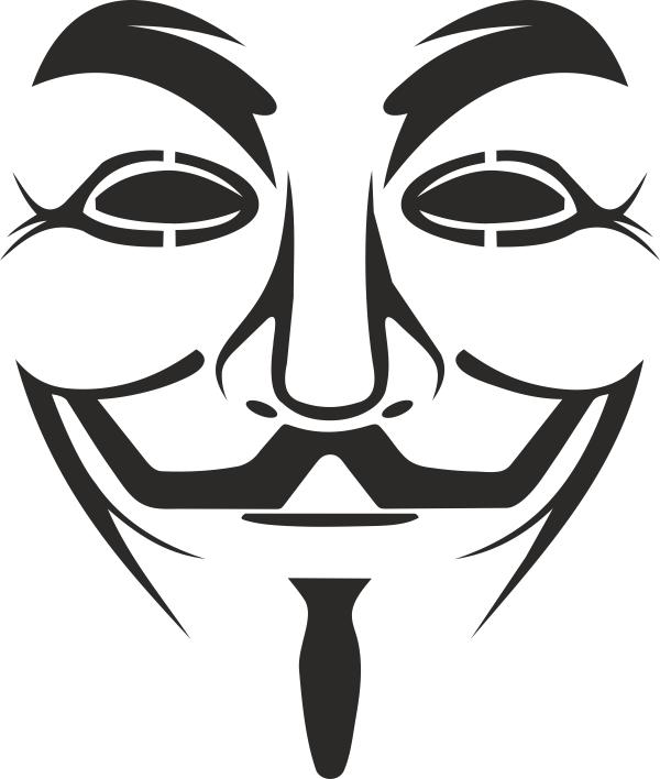 Vendetta Mask Logo Free Vector cdr Download | Craft Stencils