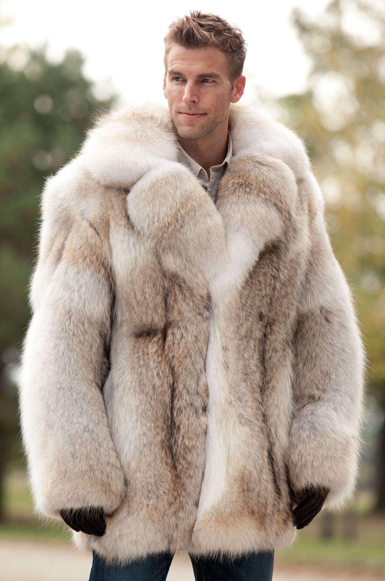 f7b58e21f15 Zack Coyote Fur Jacket  12127. Zack Coyote Fur Jacket  12127 White Faux Fur  Coat