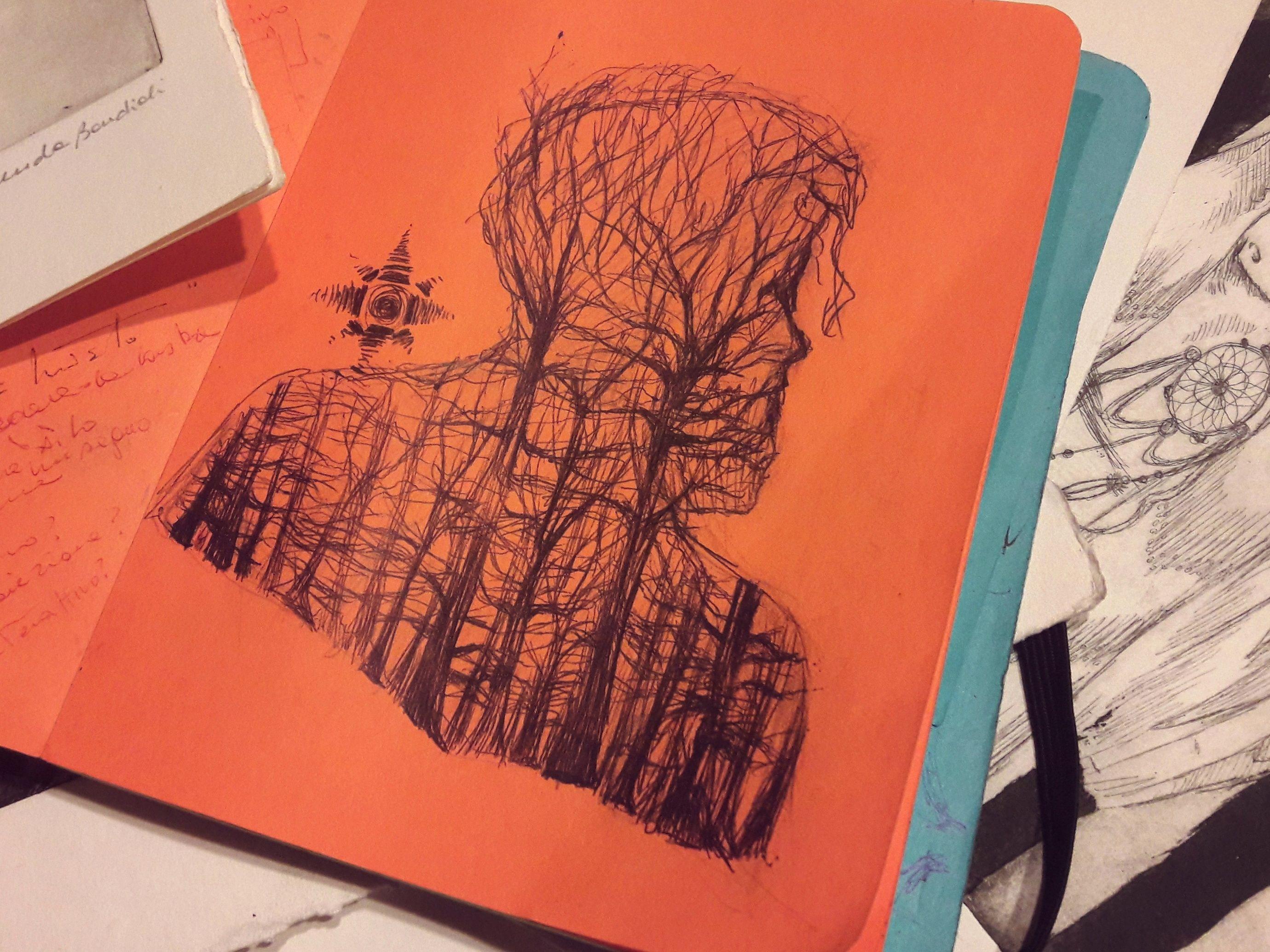 ○SKETCHBOOK II○ •wood• wood profile foresta orange