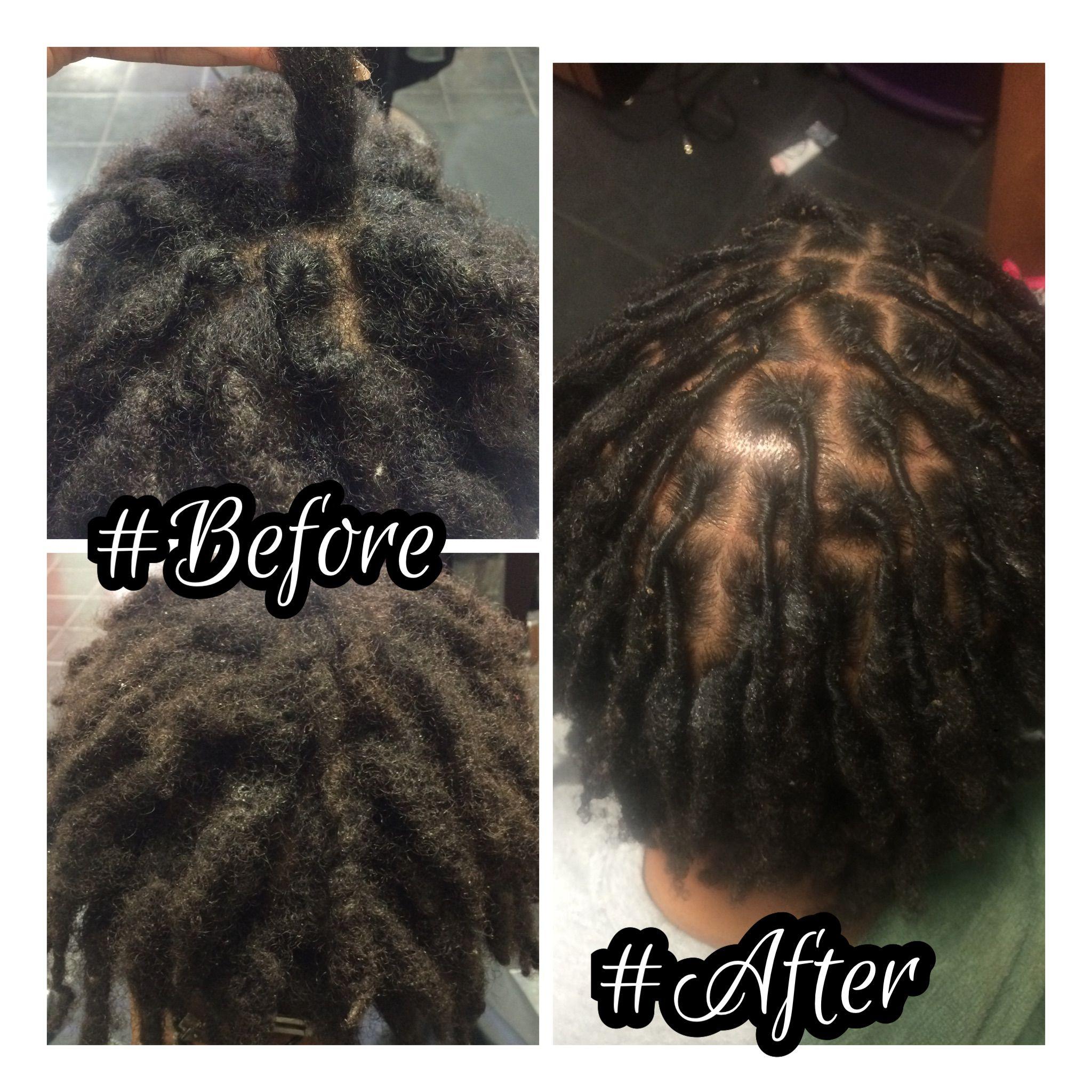 dreadlocks retwist at Trendz by Tammy Hair Salon Houston/Pearland TX