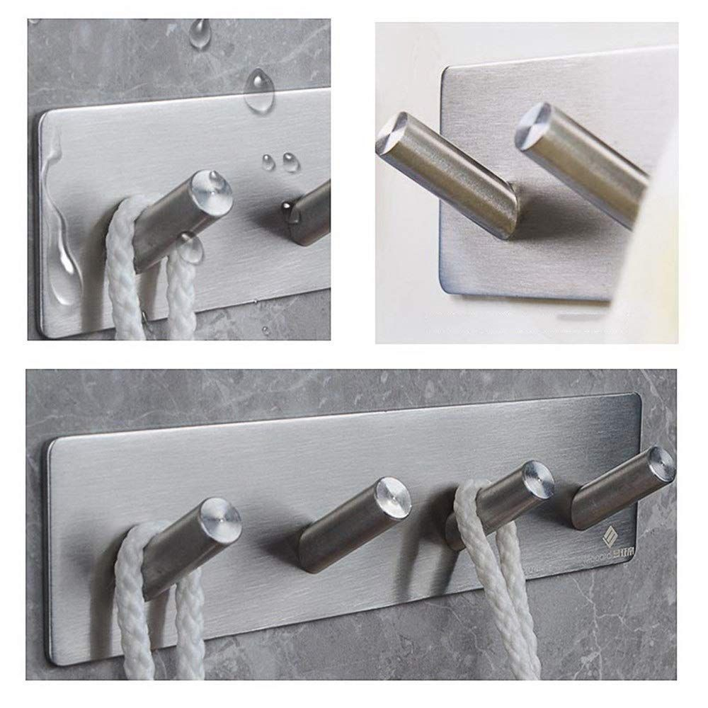Wall Mounted Bathroom Robe Towel Hooks Holder Hangers In  Coat Hooks 2PCS
