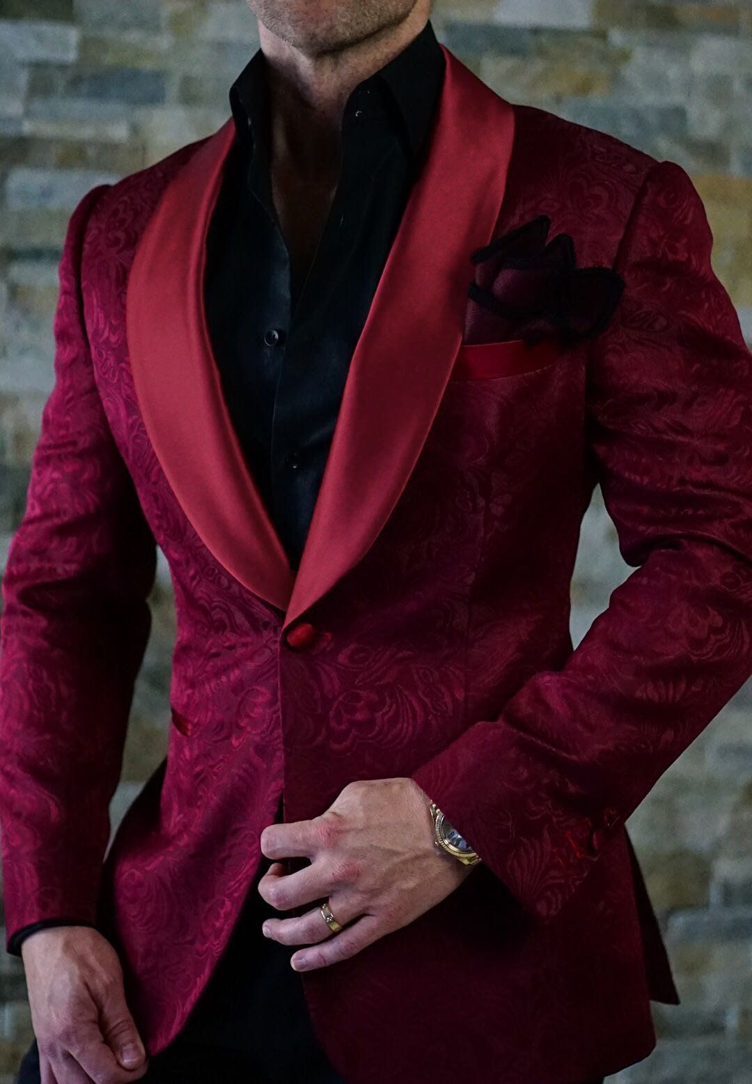 huge selection of size 40 exquisite style S by Sebastian Burgundy Paisley Dinner Jacket | Homme ...