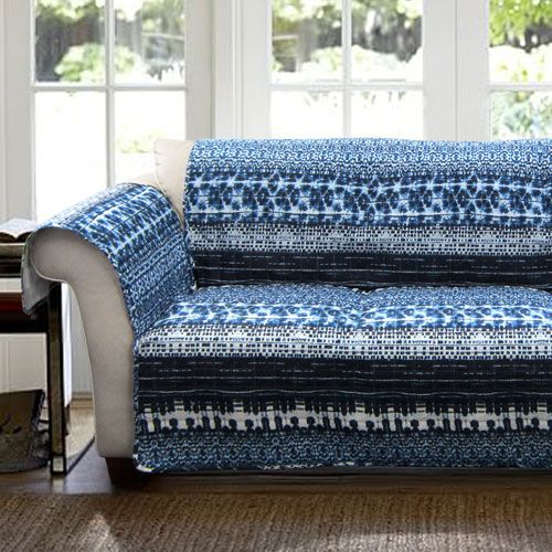 Lambert Navy Tie Dye Loveseat Furniture Protector