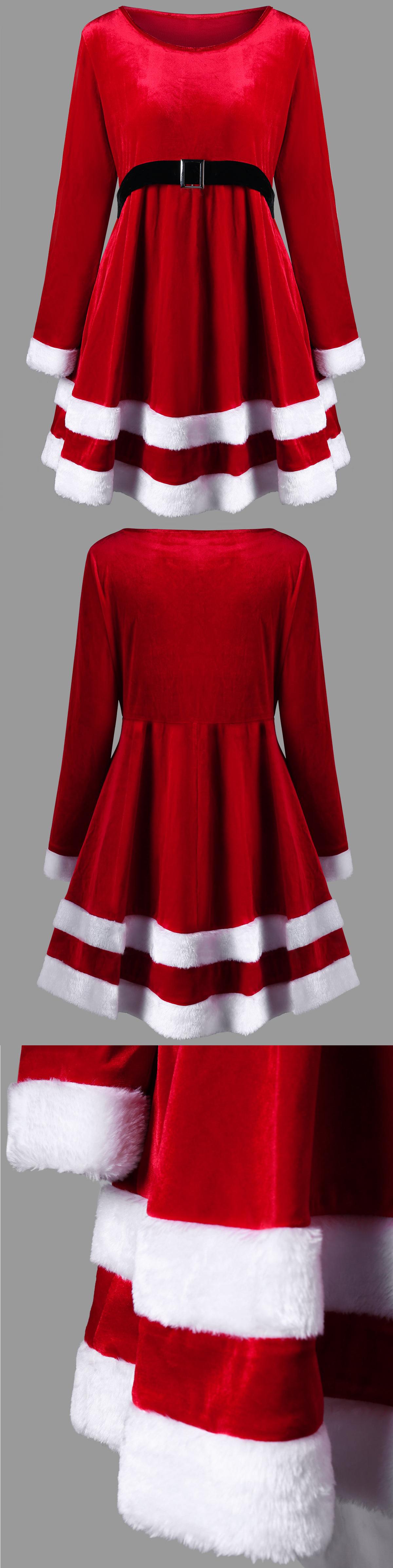 14 65 Wholesale Christmas Plus Size Velvet Long Sleeve Dress 3xl Red Rosewholesale Ro Long Sleeve Velvet Dress Dressy Casual Outfits Christmas Dress Women [ 4788 x 1200 Pixel ]
