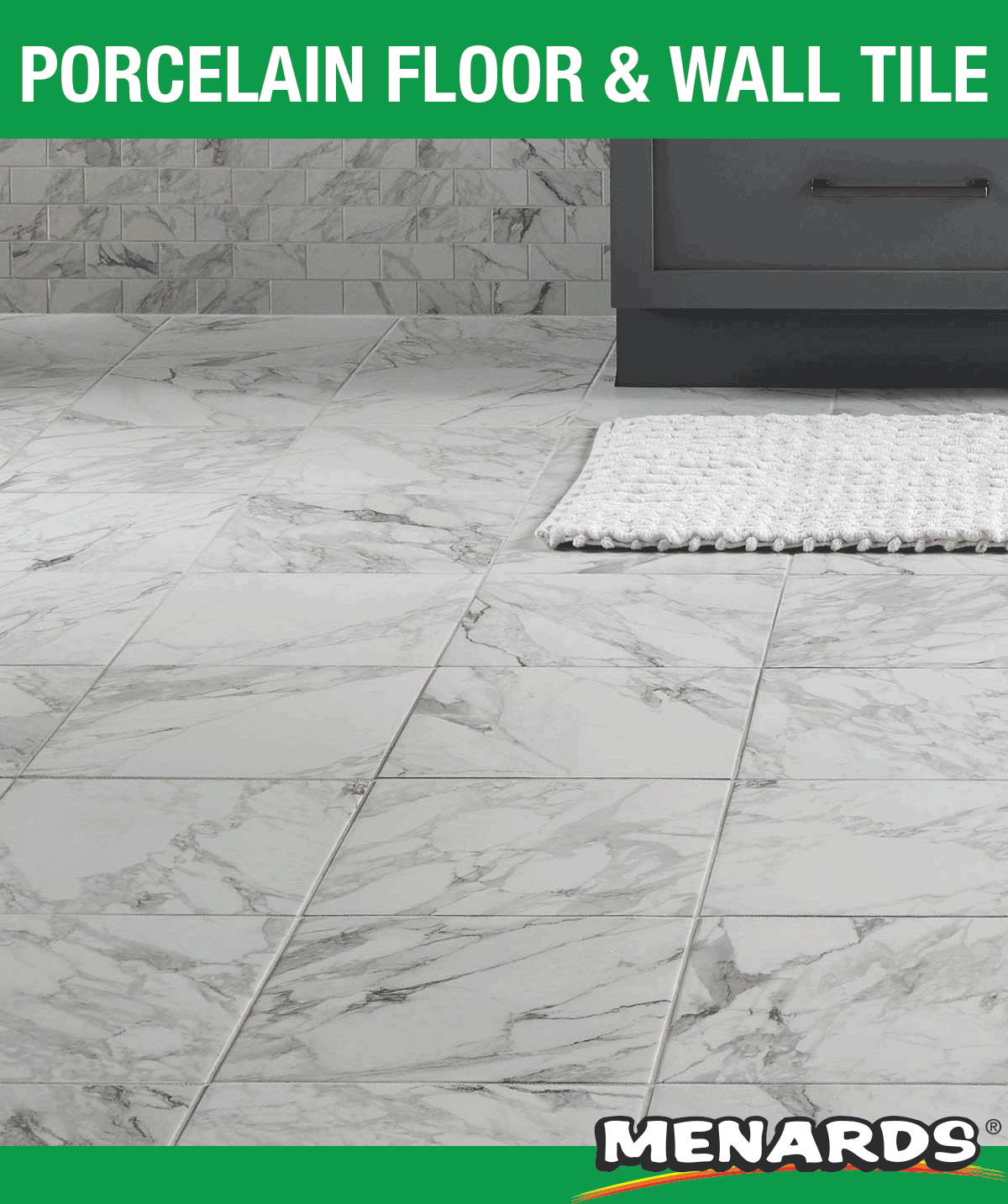 Mohawk Cleanprotect Bianco Marble 12 X 12 Porcelain Floor And Wall Tile In 2020 Porcelain Flooring Floor And Wall Tile Wall Tiles