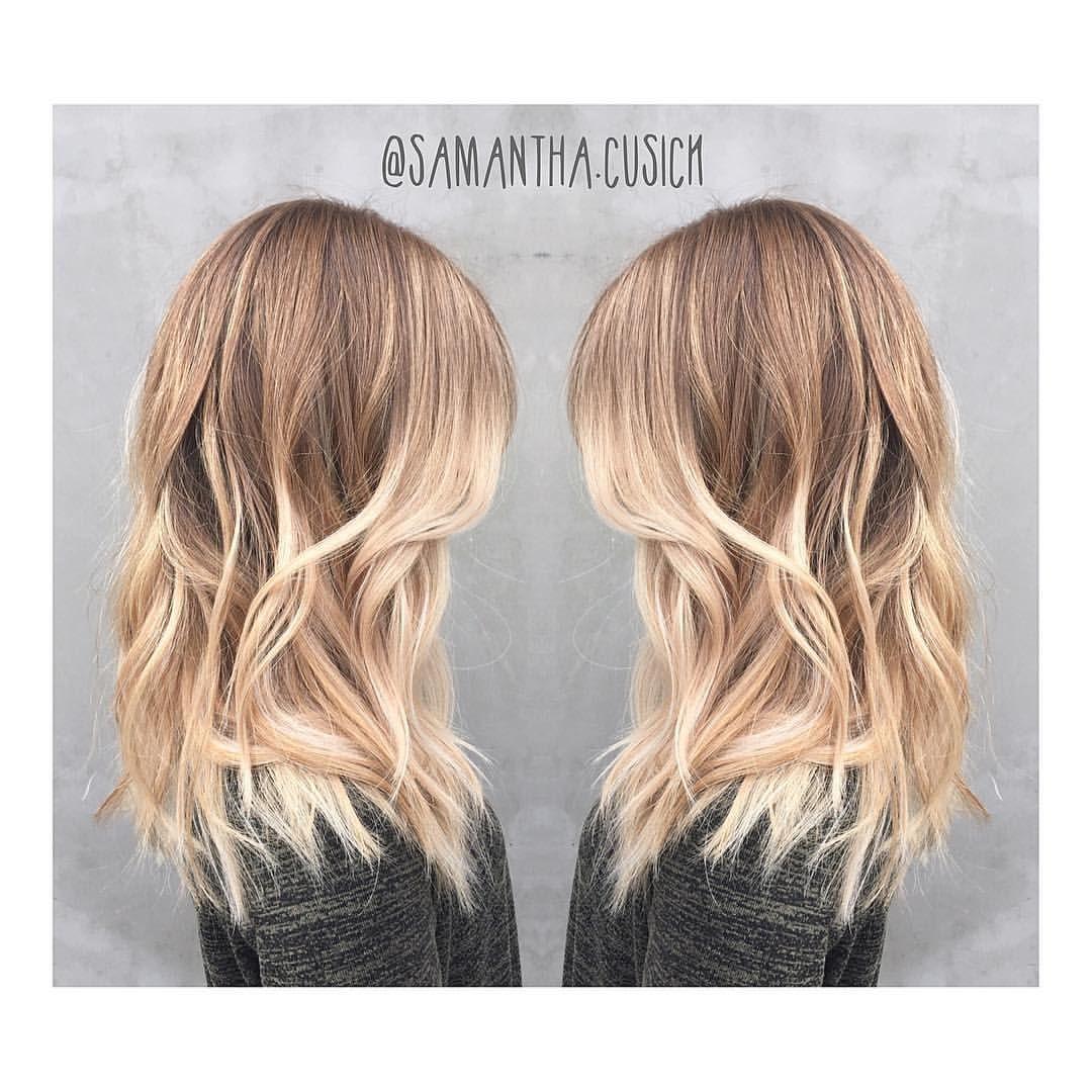 Samantha Cusick on Instagram \u201cB E A C H \u2022 H A I R Sunkissed Balayage + Beachy texture \u003d Hair