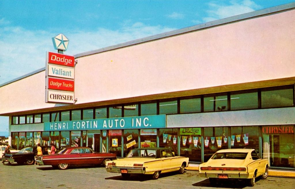 Henri Fortin Auto Chicoutimi Quebec Canada 1966 Dodge Dealership Car Dealership Used Car Lots