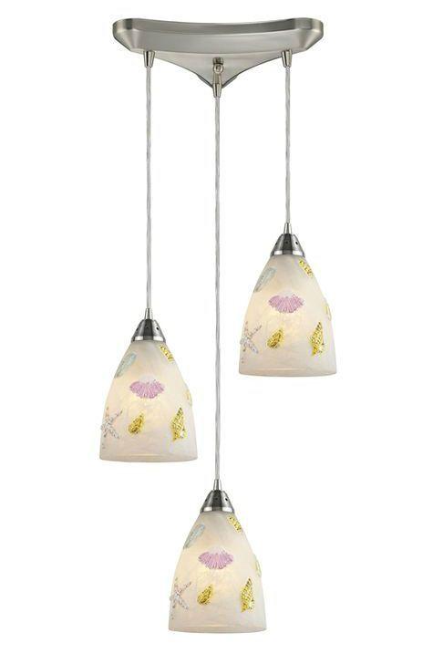 Coastalicious seashore ceiling pendant lights from elk adorned with seashell pendant lights httpcompletely coastal aloadofball Gallery