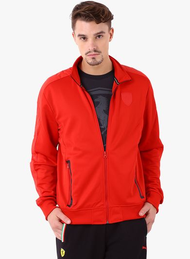 Buy Puma Ferrari Red Track Jackets for Men Online India, Best ...