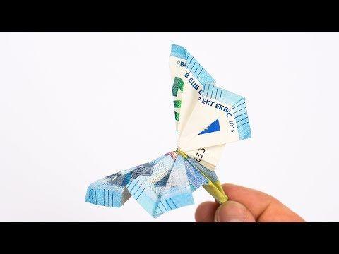 Geld Falten Schmetterling Anleitung Für Ein Geldgeschenk