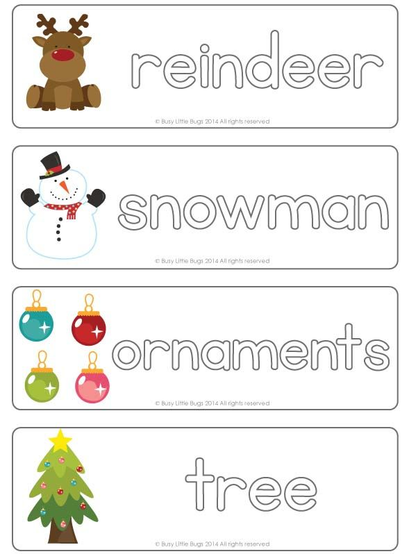 Learn to write Christmas words with these write  wipe Christmas