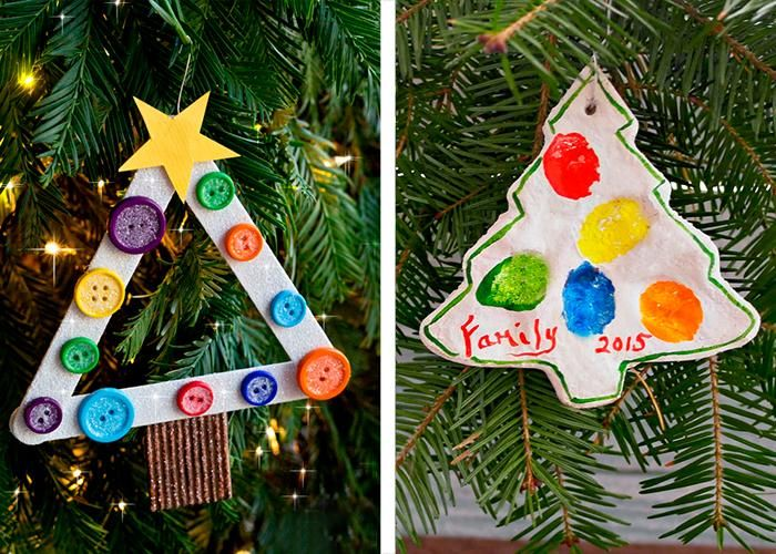 making christmas baubeln with children themselves christmas tree decorations