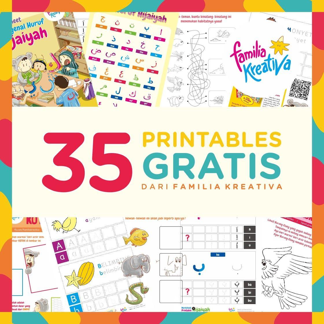 35 Printables Gratis Dari Familia Kreativa Di