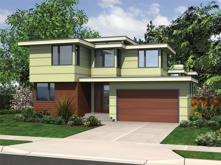 034H-0421: Modern House Plan; 3 Bedrooms, 2.5 Baths, 2264 ...