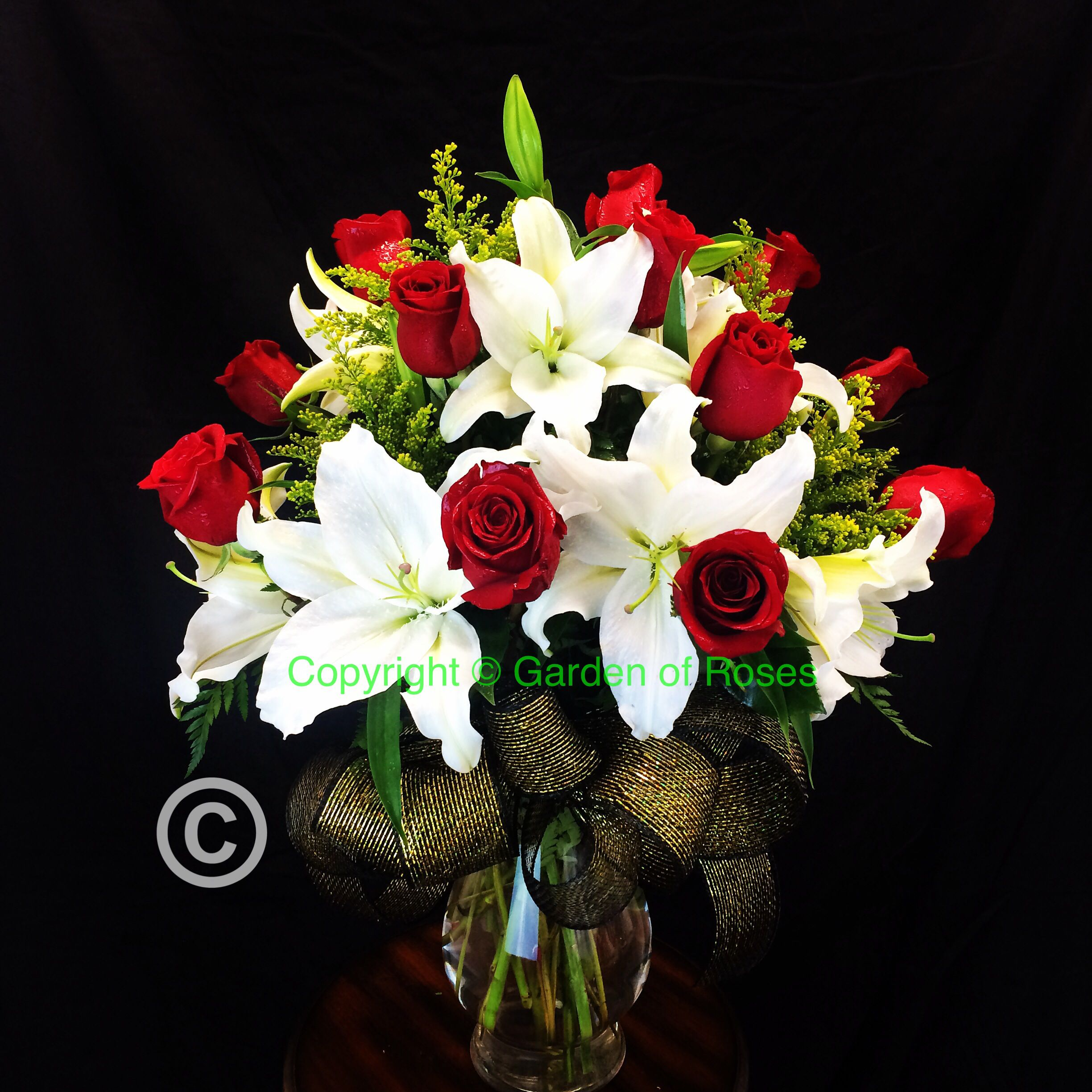 Today\'s #anniversarybouquet #redroses #whitelily . Get #flowers from ...