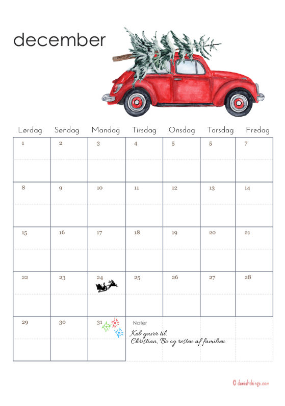 lav en kalender