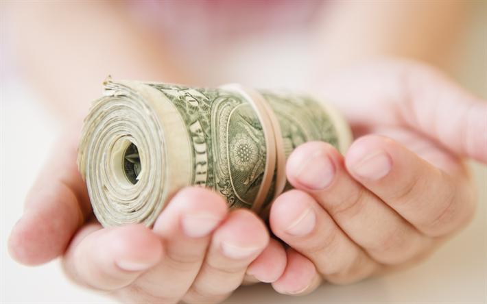 Download Wallpapers Money In Hands Business Bundle Of Dolars Money Concepts Finance Dollars Besthqwallpapers Com Money Concepts Finance Concept