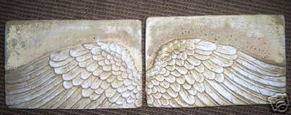 Abs plastic angel stepping stone concrete plaster mould mold