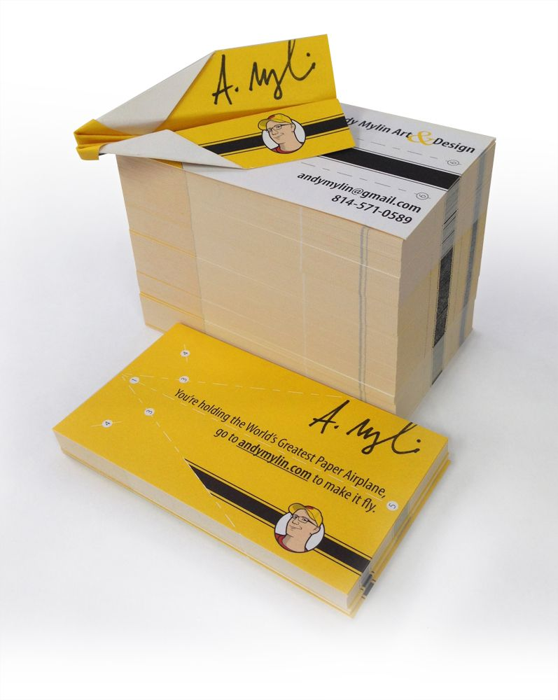Paper airplane business cards | Direct Marketing Ideas | Pinterest ...