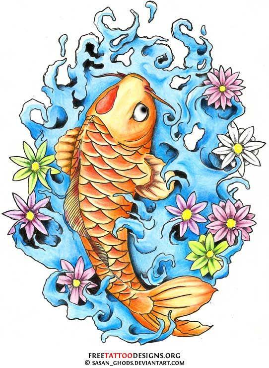 40 Koi Fish Tattoos Japanese And Chinese Designs Koi Fish Tattoo Koi Fish Designs Japanese Tattoo Art