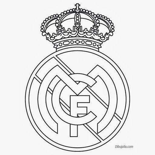 Plantilla Del Escudo Del Real Madrid Escudo Del Real Madrid Dibujos Del Real Madrid Logo Del Real Madrid
