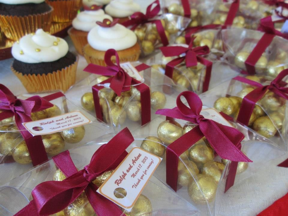 Wedding Favors For A Red Gold Theme Facebook