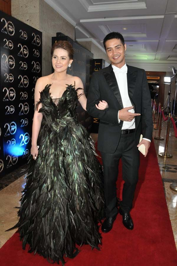 Bea Alonzo with Zanjoe Marudo at the Star Magic Ball. Photo by Nimfa ...