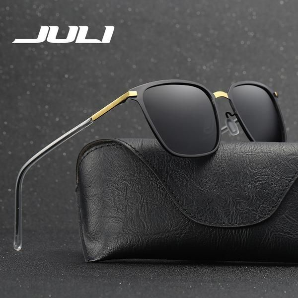 68ec217fc2d FuzWeb JULI Police Sunglasses Polarized Sunglasses Men Vintage Women Alloy Frame  Glasses Eyewear Accessories Driving