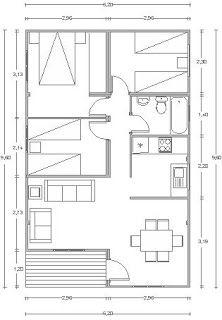 Marvelous Planos Casas De Madera Prefabricadas: Planos Bungalows 40 A 70 M2.  BungalowsSmallest HouseSmall House PlansFree ...