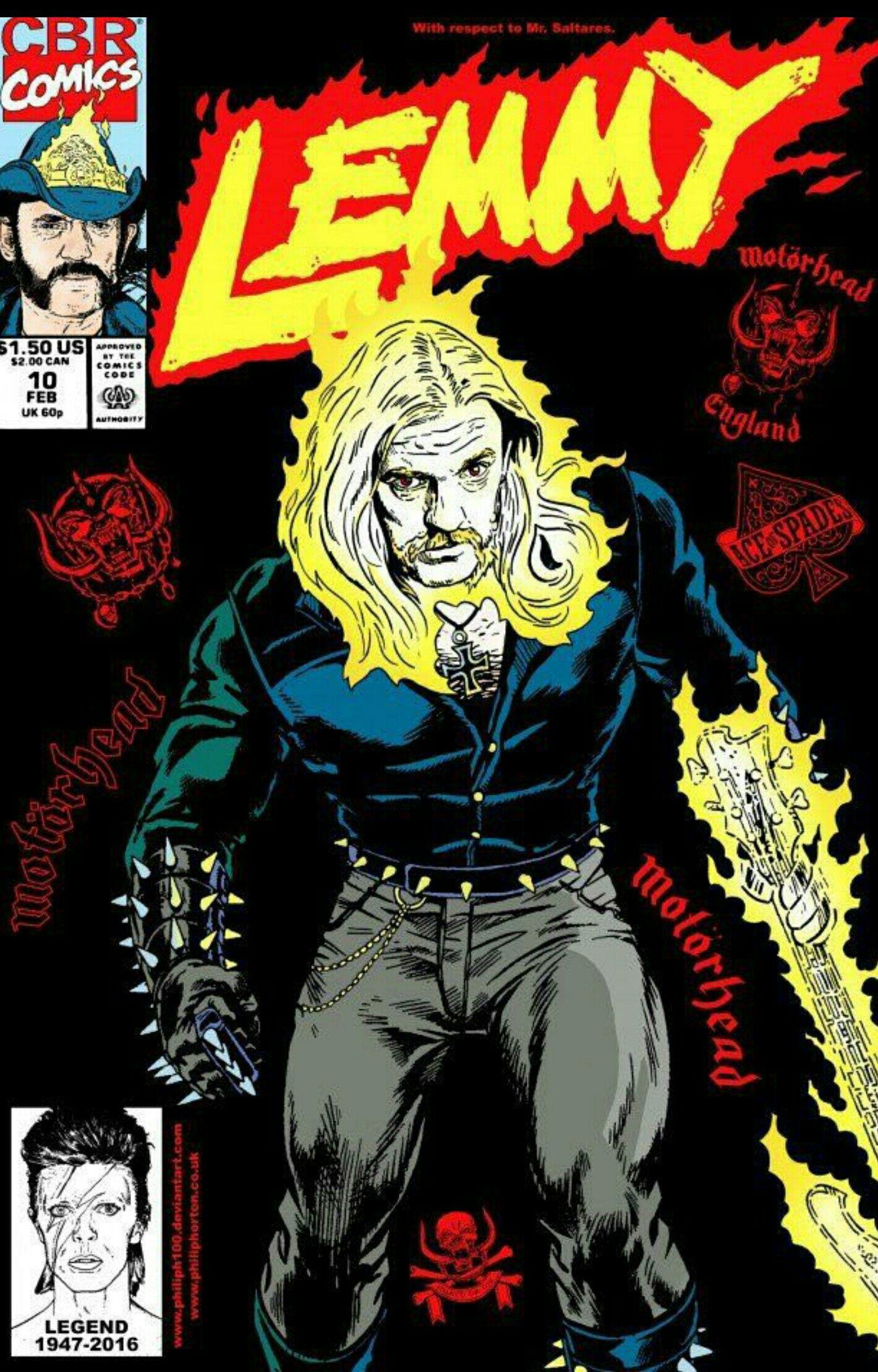 Motörhead Lemmy Comic | Rock Posters | Lemmy motorhead, Rock