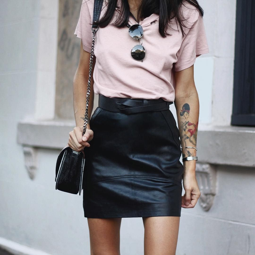 Pin by andrea on fashion pinterest leather mini skirts pink