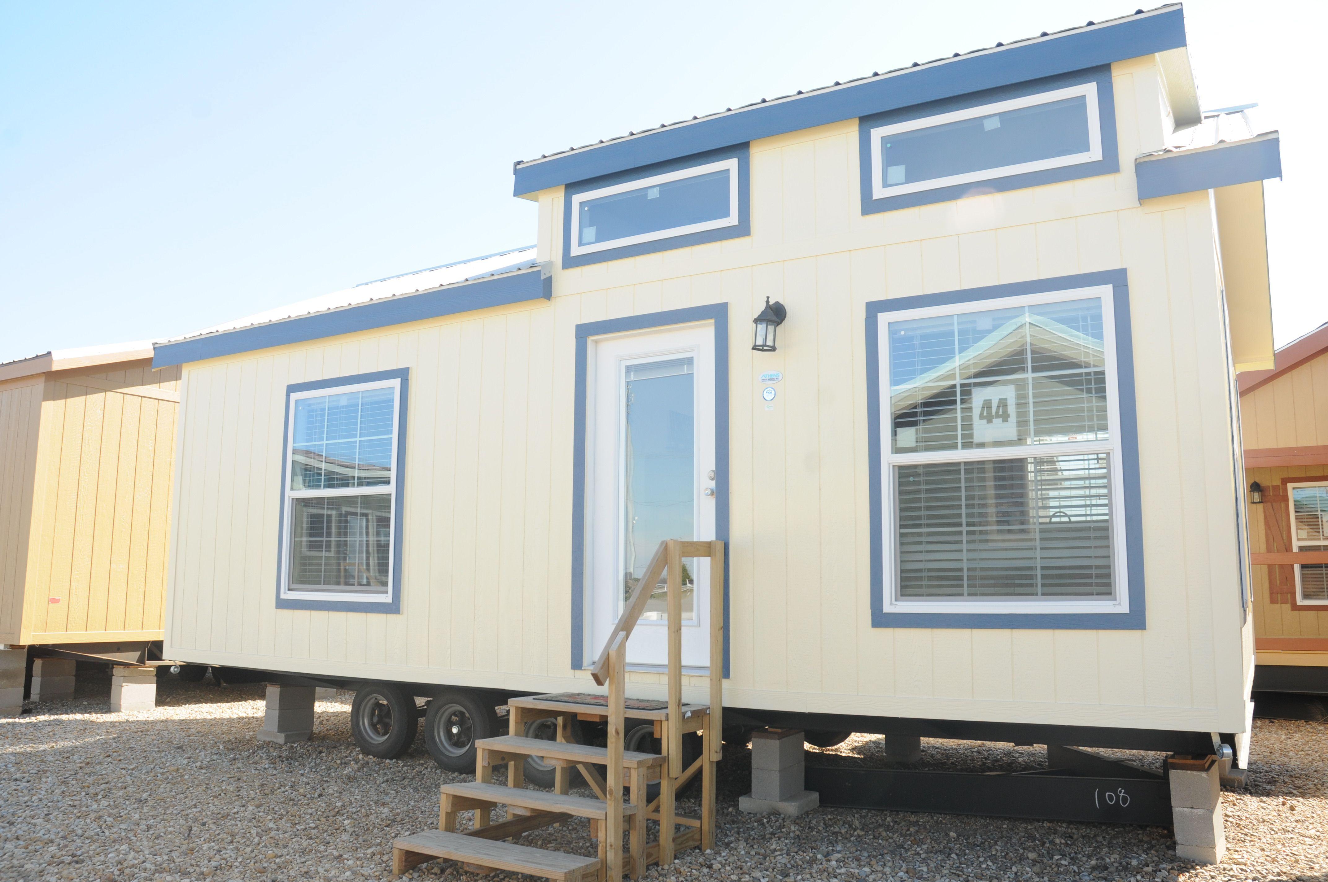 Mobile Home, Tiny Houses, Cottage, River, Park, Log Cabins, Exterior,