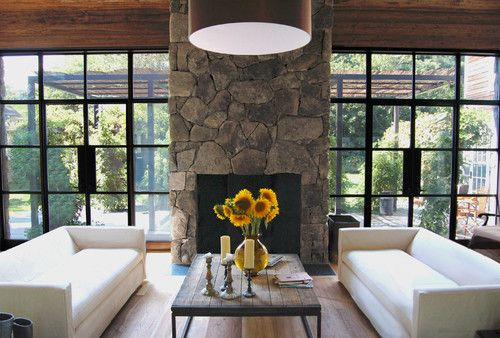 contemporary living room by SchappacherWhite Ltd Rustic