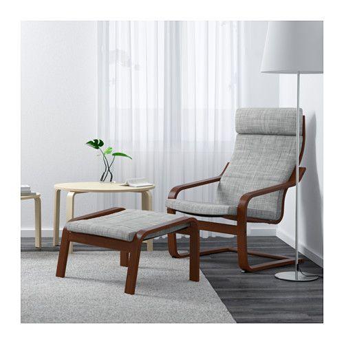 bedroom chairs and ottomans. Interiors PO NG Chair  Isunda gray medium brown IKEA master bedroom