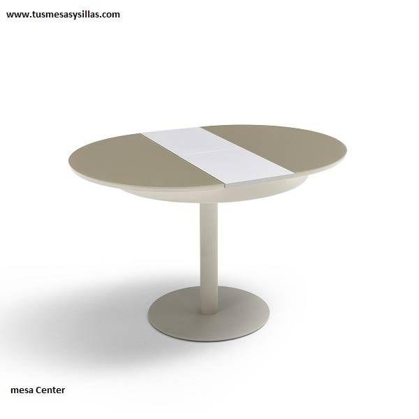 Mesa redonda extensible Center con pie central 90 cm   Cocina ...