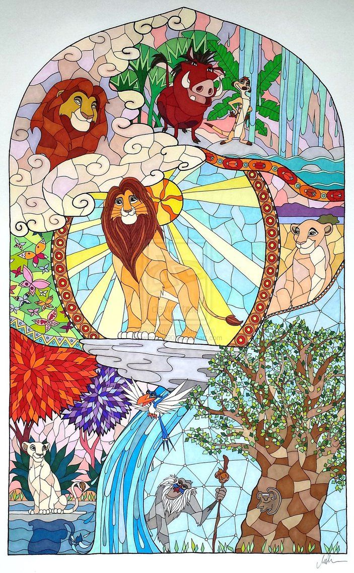 The Lion King Stained Glass Disney Disney Disney Lion King