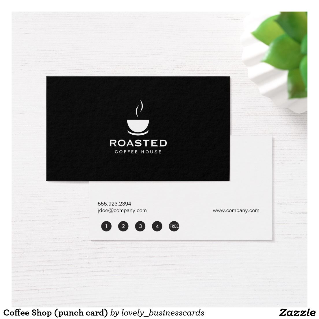 Coffee Shop (punch card) Loyalty Card | Pinterest