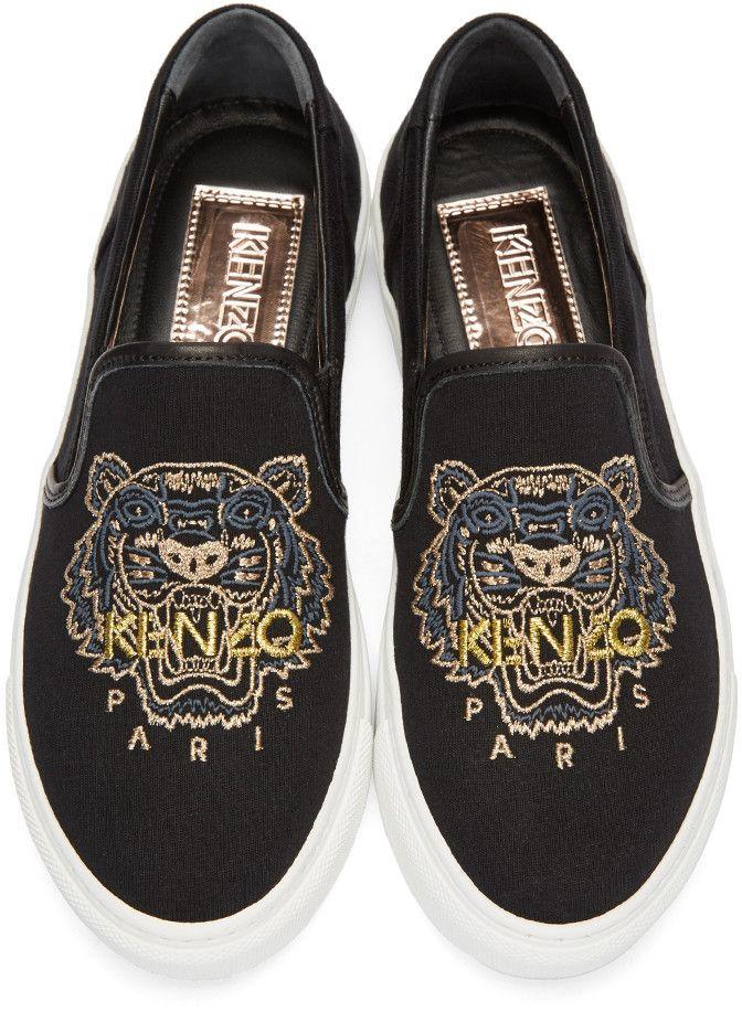Kenzo - Black Tiger Skate Slip-On