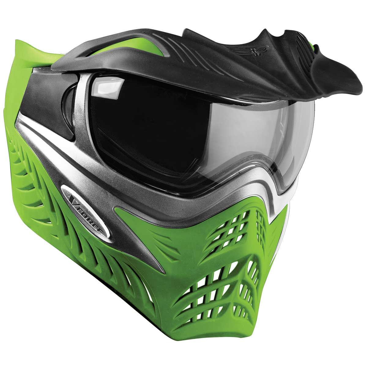 V Force Grill Paintball Mask Goggle Grey On Lime Green Paintball Mask Force Paintball Mask Lime Green Paintball