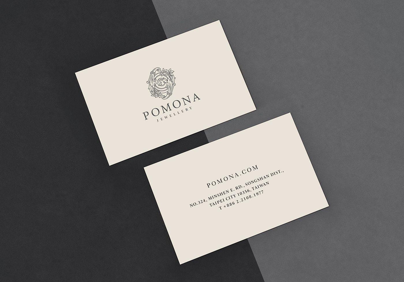Pomona Jewellery | Classic Business Cards | Creative / Innovative ...