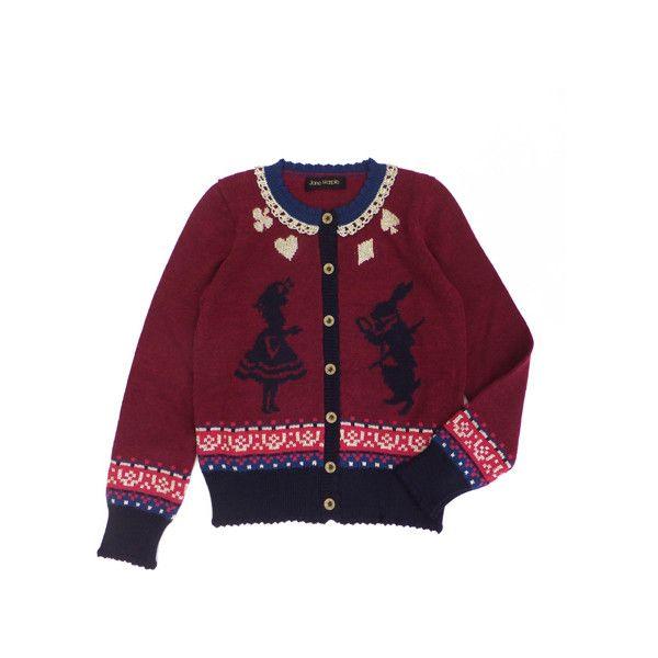 アリスとラビットの編みこみカーディガン ($320) via Polyvore featuring outerwear