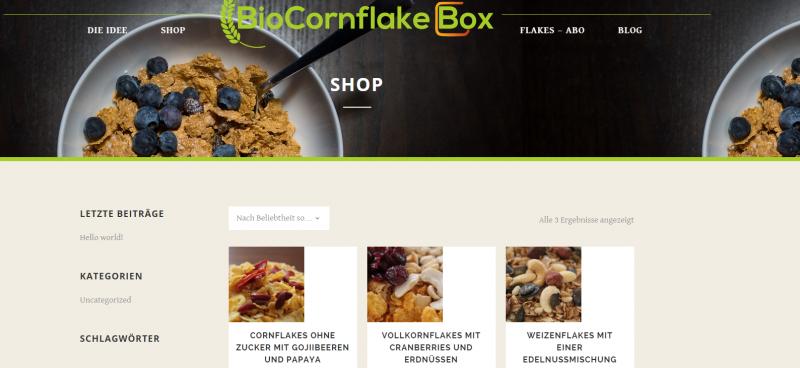 #Startup vorgestellt: BioCornflakeBox - Bio-Cornflakes für jede Lebenssituation