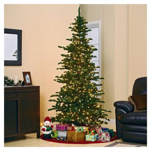 7 Foot Artificial Christmas Tree with Free Warm White LED Light