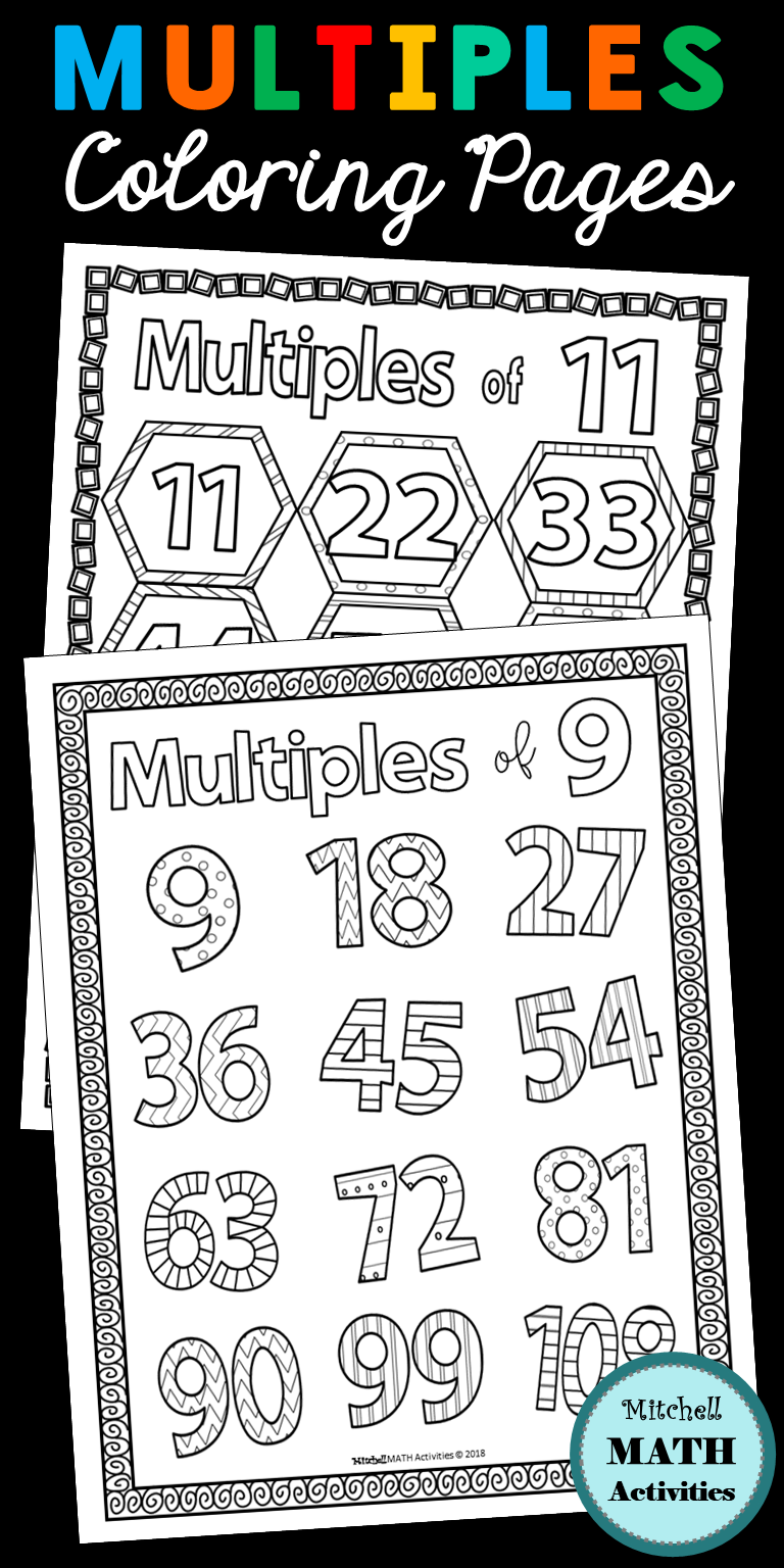 Set Of 36 Coloring Pages For Multiples Includes 3 Different Styles With Unique Designs For The First Twelv Coloring Pages Learning Printables Spring Resources [ 1536 x 768 Pixel ]