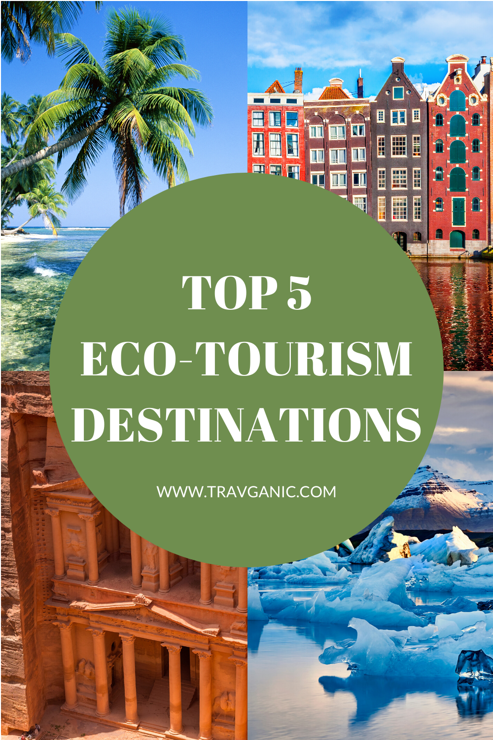 We all love to travel, but now more than ever we need to think about traveling sustainably! Check out our picks for top five eco-tourism destinations, so you can travel responsibly! #ecotourism #sustainabletravel #travelgreen #travelinspo #travganic