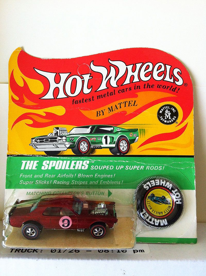 Mattel legends 1 24 1969 hot wheels twin mill concept car electronic - Hk Red Nitty Gritty Kitty Bp Car And Card Are In Near Mint Condition